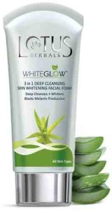 Lotus Herbals Whiteglow Deep Cleansing Skin Whitening Facial Foam