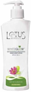 Lotus Herbals Whiteglow Skin Whitening & Brightening Hand & Body Lotion SPF-25