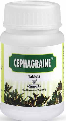 Charak Cephagraine Tablets – Natural Migraine Treatment, Sinus Treatment & Nasal Congestion