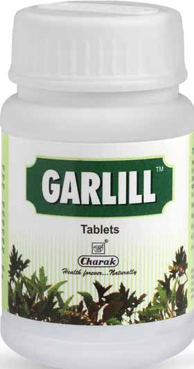 Charak Garlill Tablets For Abdominal Pain, Stomach Bloating And Flatulence Treatment
