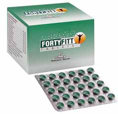 Charak Fortyfitt Tablets For Loss Of Libido, Control Decreased Bone Mass