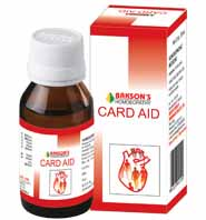 Backson's Homeopathic Card Aid Drops For Treatment Of Coronary Artery Disease & Hypertrophic Heart Disease
