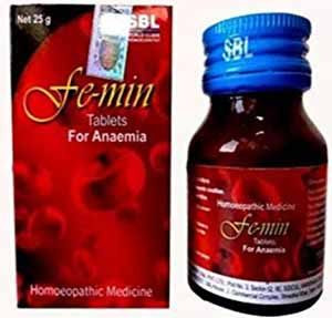 SBL Homeopathic Femin Tablets For Anaemia