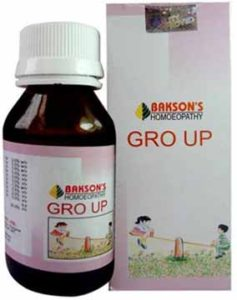 Bakson's Homeopathy Gro Up Drops For Child Growth And Development, Growth Disorder Of Children And Children Iron Deficiency