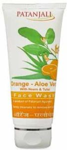 Patanjali Orange Aloe Vera Face Wash – Natural Face Wash, How To Get Glowing Skin