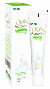Vasu UVA Acnovin Cream For Acne scars, Pimples, Blackheads, and Blemishes